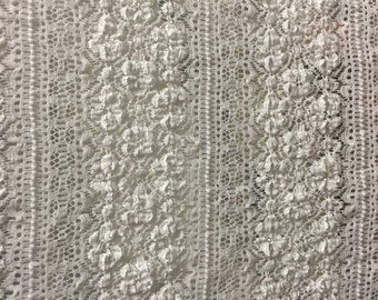 Lace Fabric 1 Yard With Separate 3/4 Yard Remnant