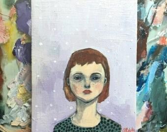 Oil painting portrait - Marguerite - Original art