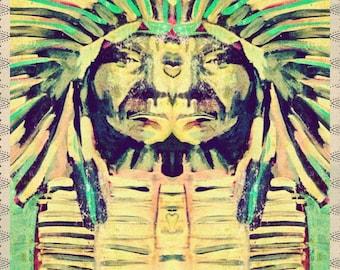 INSTANT DOWNLOAD - Art Journal Digital Collage Sheet - Red Cloud