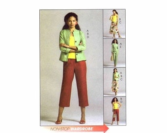 Misses Jacket Top Skirt Pants McCalls 4878 Sewing Pattern Size 6 - 8 - 10 - 12 UNCUT