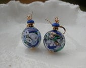 Blue Glass Earrings In Murano Glass - Leverback, Fishhook, Clip On, Screw Back or Stud