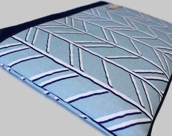 Woman's Laptop Case, Surface Pro 4 Case, Dell XPS 13 Sleeve, Canvas Surface Book Asus Flip Laptop Cover - Bogatell Spa Blue
