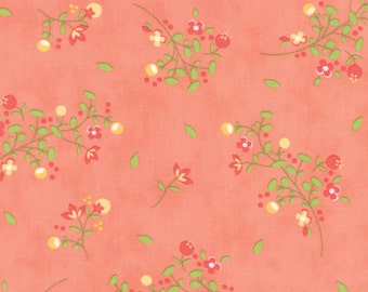 Sundrops - Blossoms in Coral Peach: sku 29011-16 cotton quilting fabric by Corey Yoder for Moda Fabrics - 1 yard