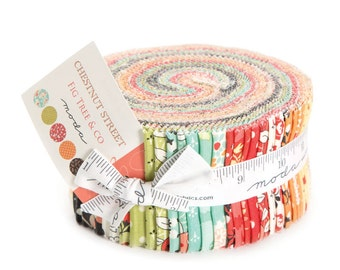 Chestnut Street Jelly Roll by Fig Tree and Co. for Moda Fabrics, 40 2.5 inch strips