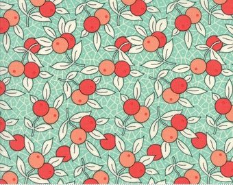 Chestnut Street - Berries in Blueberry: sku 20273-13 cotton quilting fabric by Fig Tree and Co. for Moda Fabrics - 1 yard