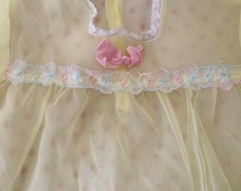 darling baby girl vintage sheer lace trim dress