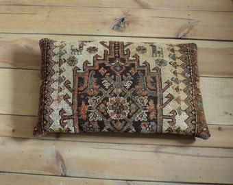 Extra Large Antique Persian rug pillow cushion