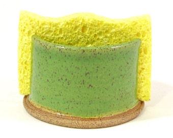 Sponge holder in green