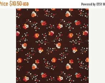 SALE Denyse Schmidt Flea Market Fancy Legacy Collection Brown Posie cotton Fabric by the yard