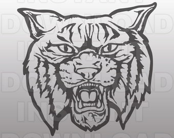 Wildcats Mascot SVG File-Cutting File-Clip Art for Commercial & Personal Use-Vector art file for Cricut,Cameo,Sizzix,Pazzles,Decal,Stencil