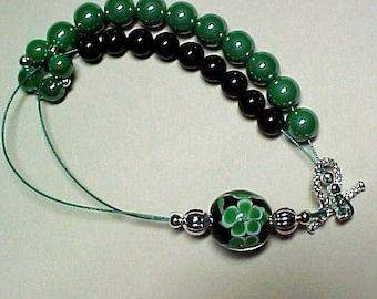 Shamrock Abacus Bracelet for Knitting and Crochet - Item No. 533