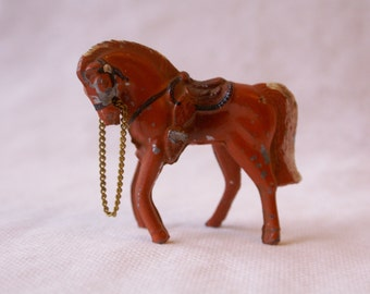 Vintage Cast Iron Metal Horse Miniature Toy, Japan