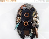 Half Off Sale Hand Mirror - Afrocentric Bold - Repurposed Jewelry - M000680