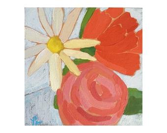 "Original Acrylic Painting - ""Small Bouquet I"""