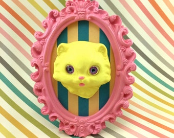 Pretty Kitty in Ornate Frame