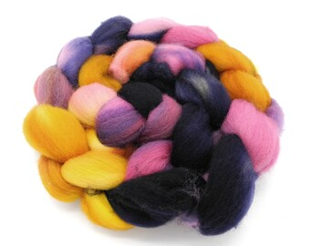 Ethel Hand Dye Spinning Fiber - Roving Dyed to Order