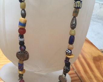 African trade beaded necklace