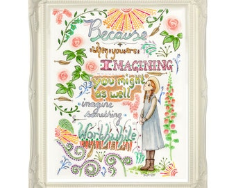 Anne Of Green Gables quote - 8 x 10 print