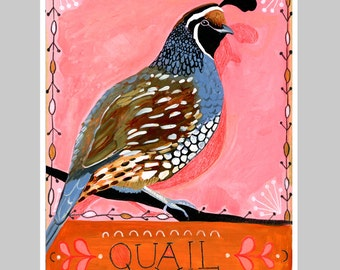 Animal Totem Print - Quail