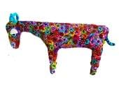 Ibex sculpture, Ibex decor, ibex decoration, ibex art, polymer clay ibex, Israeli animal. Israeli art, ibex