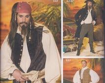 Simplicity 4923 Mens Pirate Costume Coat Vest Knee Breeches Shirt Cravat UNCUT