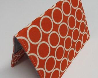 Passport Cover Case Holder Vacation Cruise Travel Holiday - Travel - White Circles on Tangerine Orange