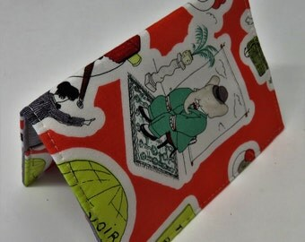 Passport Cover Travel Case Holiday Cruise - The Story of Babar - The Little Elephant Fabric