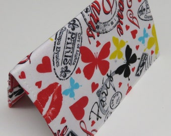 READY TO SHIP - Passport Cover Case Holiday Cruise Travel Holder - Travel - I Love Paris Fabric