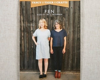 Fancy Tiger Fen Printed Sewing Pattern