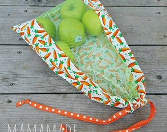 Reusable Produce Bag - Carrots - from green by mamamade