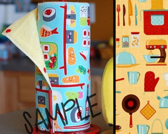 Unpaper Towels | Reusable Paper Towels - Dinnertime Tree Saver Towel | Kitchen Towel | Snapping Cloth Paperless Towel