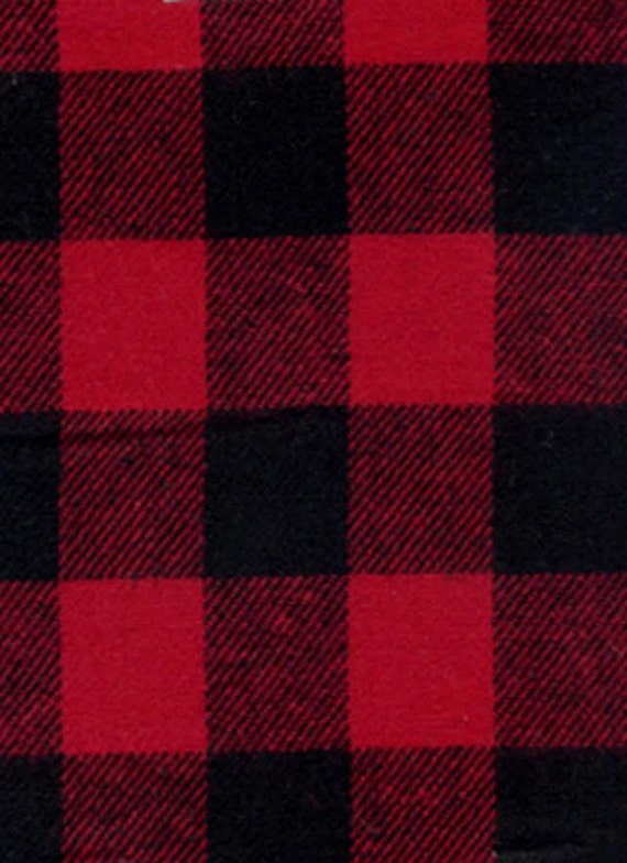 Buffalo Check Red And Black 3 4 Inch Plaid Woven