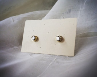 Silver and brass studs