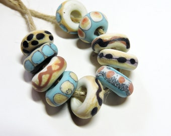 Lampwork Beads NATURALS Two Sisters Designs 072916AF