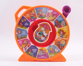 Mother Goose Says See N' Say Vintage Talking Spinner Toy 1970s