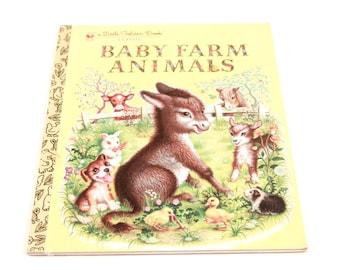 Baby Farm Animals Little Golden Book 1953 1958 1987 - Garth Williams Cool Illustrations (1150-BB)