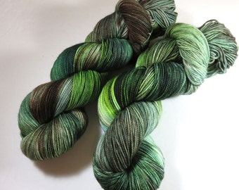 Hand Dyed Superwash Merino and Nylon 2-Ply Sock Yarn -- Once In The Highlands (Outlander)