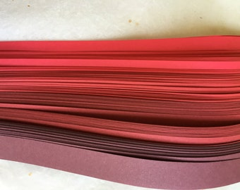 "3/4"" Weaving Paper Strips~ Reds (100 strips)"