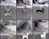 Dog or cat charm necklace - Sterling Silver with SS chain