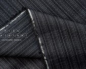 Japanese Fabric - yarn dyed Shijira cotton stripes - charcoal, grey - 50cm