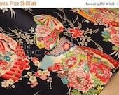 Japanese fabric Wagara A - black - 50cm