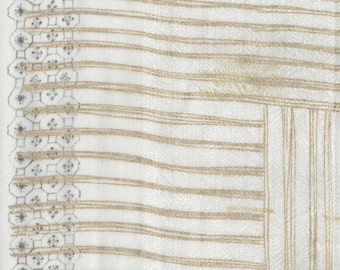 Nani Iro Kokka Japanese Fabric ori-some - usukou - 50cm