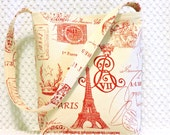 Paris Handbag - Eiffel Tower Purse - Red Paris Hobo Bag Purse - Ladies Purse - Shoulder Bag - French Script Bag - BizzieLizzieHandmade Bags