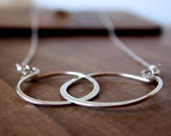Sterling Silver Eternity Necklace. Best Friend Necklace. Girlfriend Necklace. Best Friend Jewelry. Bridesmaid Necklace.