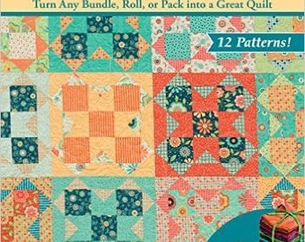 Quilt pattern book, One Bundle of Fun, patterns for Jelly Rolls, Layer Cakes and fat Quarters