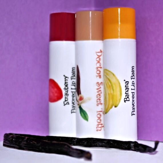 Handmade Flavored Lip Balm Pick Any Flavor .15oz