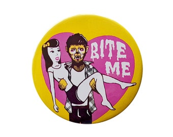 BITE ME Monster Button