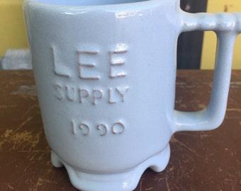 Frankoma Coffee Cup Mug Lee Supply Tulsa Oklahoma