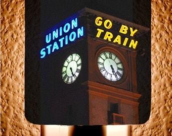 Go by Train Union Station Night Light