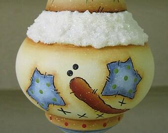 Wood Turned SnowmanOrnament Cyndi Combs design